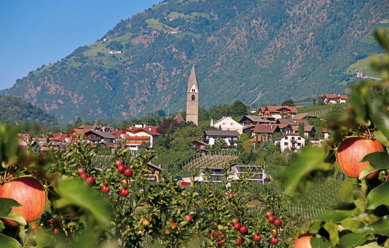 Gartendorf Algund bei Meran