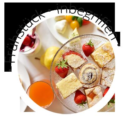 Frühstück inbegriffen bei den Zimmern im Ansitz Pünthof in Algund